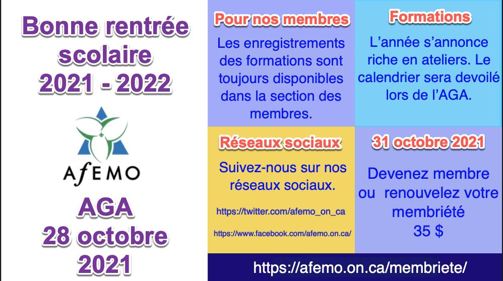 AGA bonne rentrée 2021-2022
